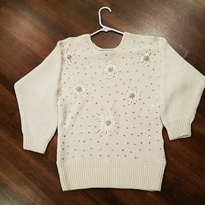 Amanda Smith Holiday Sweater Petite Small